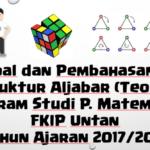 Soal dan Pembahasan -Ujian Tengah Semester (UTS) Struktur Aljabar (Teori Grup)