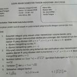 Soal dan Pembahasan – Ujian Akhir Semester (UAS) Kalkulus Integral