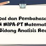 Soal dan Pembahasan – ON MIPA-PT Matematika Bidang Analisis Real