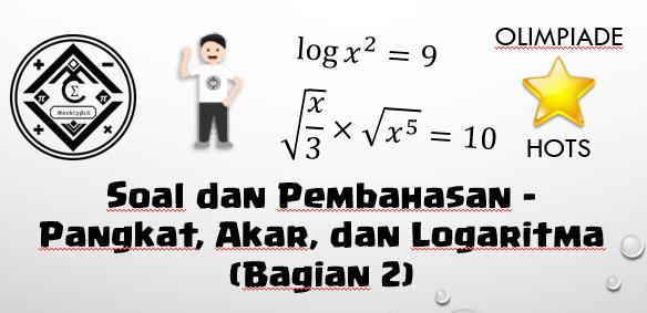 soal problem solving eksponen dan logaritma