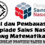 Soal dan Pembahasan – Olimpiade Sains Nasional Bidang Matematika SMP Tingkat Provinsi Tahun 2019