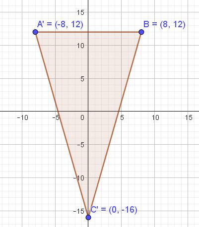 Bayangan segitiga pada bidang koordinat