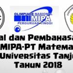 Soal dan Pembahasan – ON MIPA-PT Matematika Seleksi Universitas Tanjungpura Tahun 2018