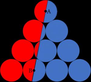 Sepuluh lingkaran membentuk sebuah segitiga