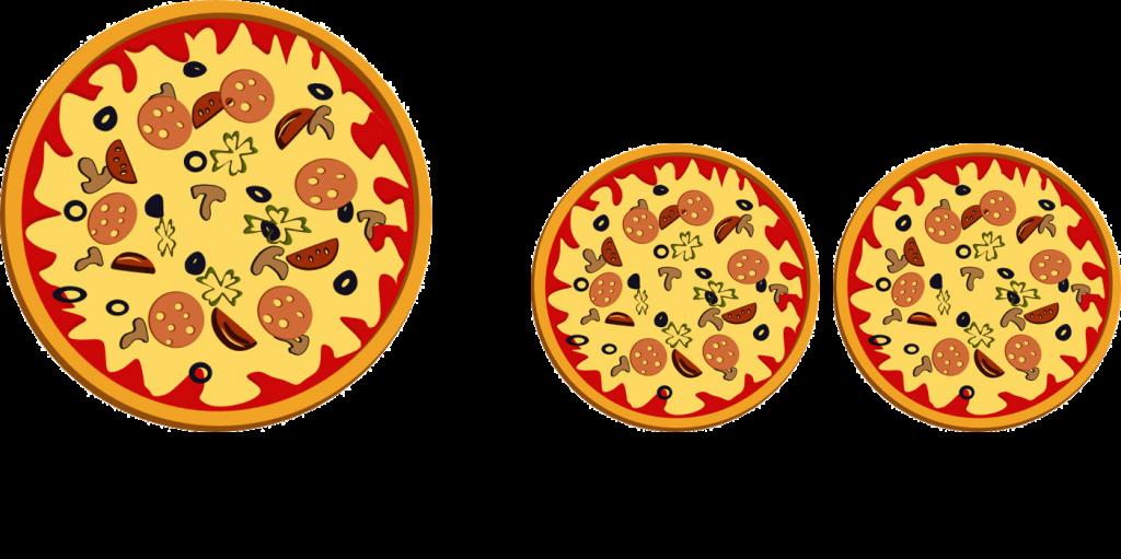Aplikasi lingkaran: piza A atau B yang lebih luas?