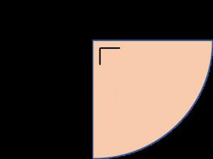 Seperempat lingkaran (quadrant)