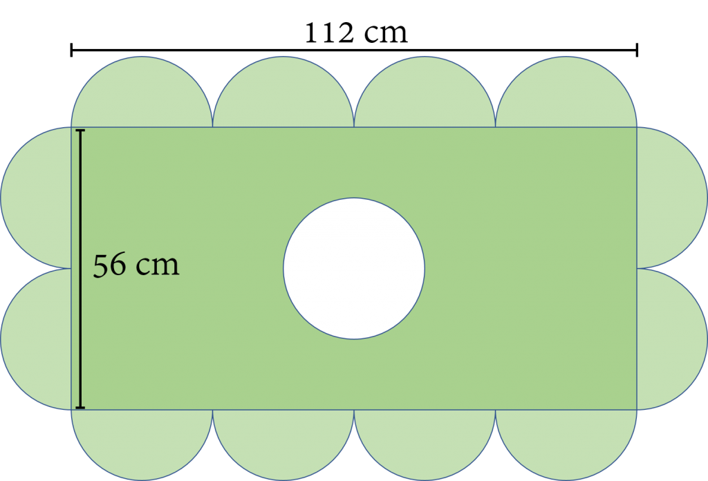 Gabungan Bangun Datar Lingkaran dan Persegi Panjang