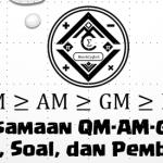 Ketaksamaan QM-AM-GM-HM – Materi, Soal, dan Pembahasan