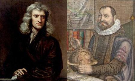 Isaac Newton (Kiri) dan Albert Girard (Kanan)