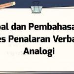 Soal dan Pembahasan – Tes Penalaran Verbal – Analogi